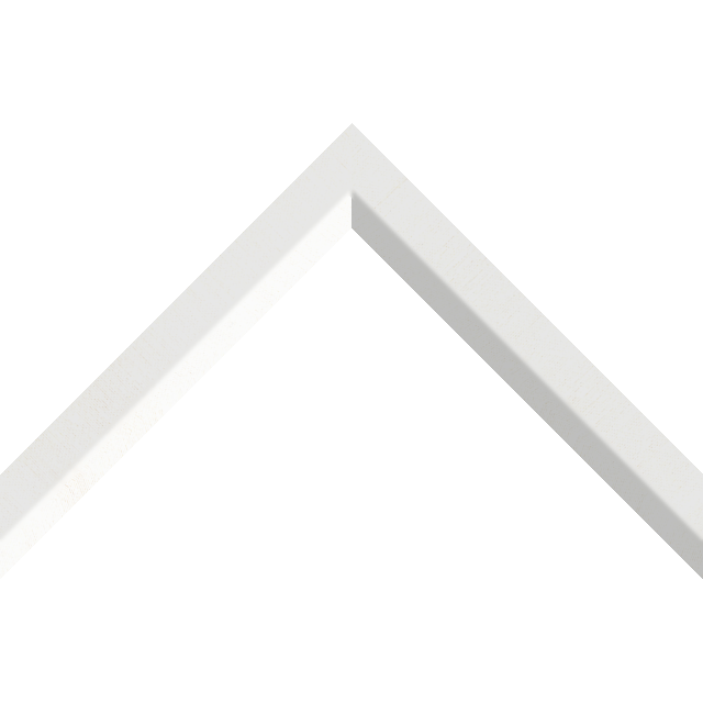 1″ White Silk Front Bevel Liner Picture Frame Moulding