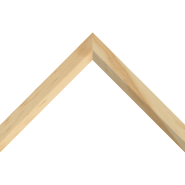 1″ Raw Pine Front Bevel Liner Picture Frame Moulding