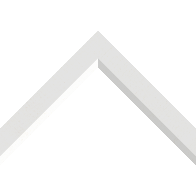 1-1/4″ White Silk Front Bevel Liner Picture Frame Moulding