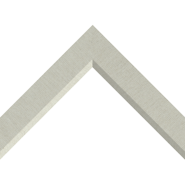1-1/2″ Brussels Natural Linen Front Bevel Liner Picture Frame Moulding