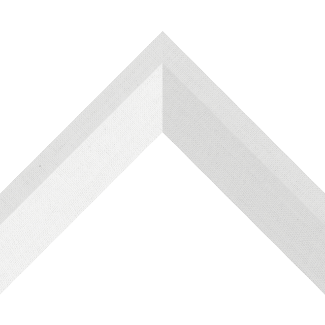 2″ White Linen Back Bevel Liner Picture Frame Moulding