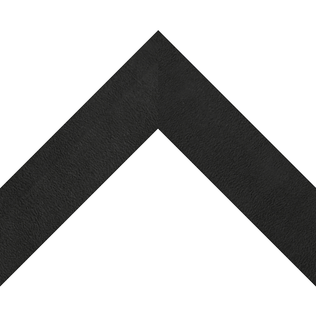 2″ Black Suede Back Bevel Liner Picture Frame Moulding