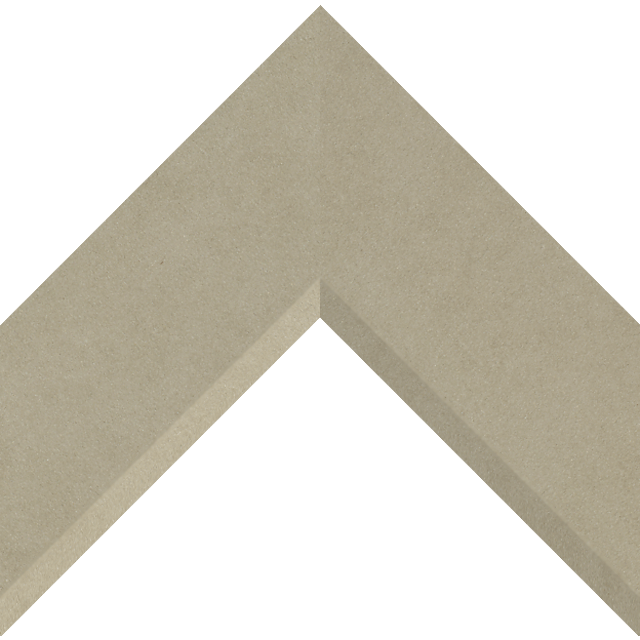 3″ Fawn Suede Front Bevel Liner Picture Frame Moulding