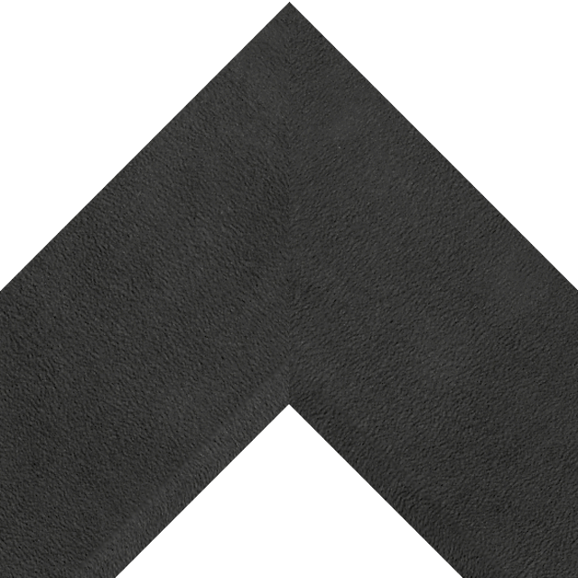 4″ Black Suede Front Bevel Wrap