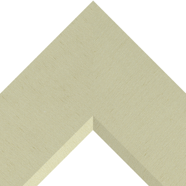 4″ Ivory Silk Front Bevel Wrap