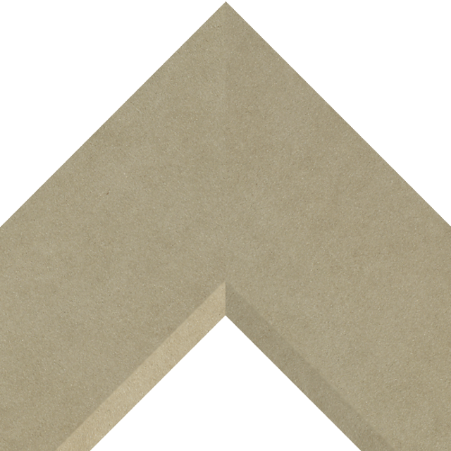 4″ Fawn Suede Front Bevel Liner Picture Frame Moulding