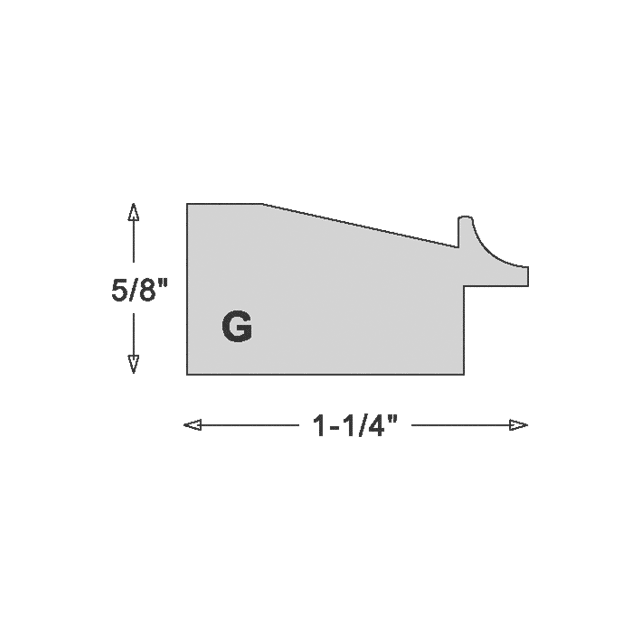 1-1/4″ Pineapple Silk Bevel with Silver Scoop Lip
