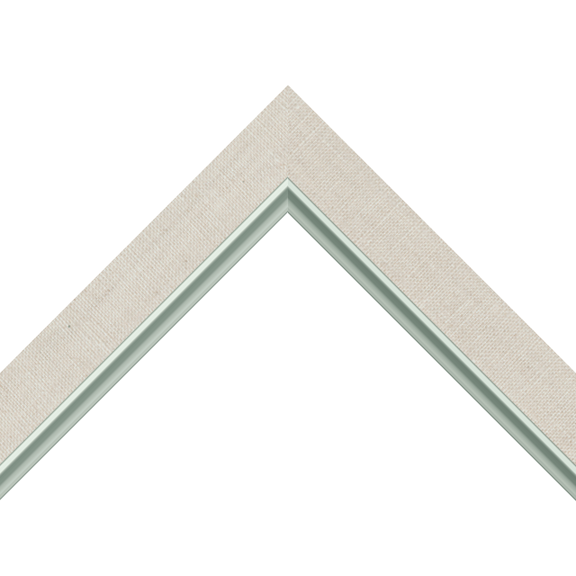 1-1/4&Prime; Natural Linen Flat<br />with Silver Lip Liner Picture Frame Moulding