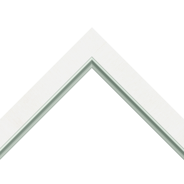 1-1/4&Prime; White Silk Flat<br />with Silver Lip Liner Picture Frame Moulding