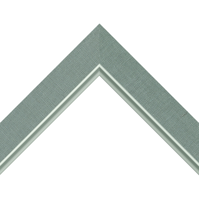 1-1/2&Prime; Frosty Spruce Linen Flat<br />with Silver Lip Liner Picture Frame Moulding