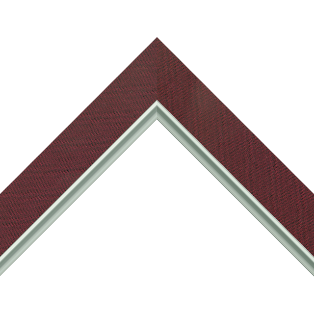 1-1/2&Prime; Wine Silk Flat<br />with Silver Lip Liner Picture Frame Moulding