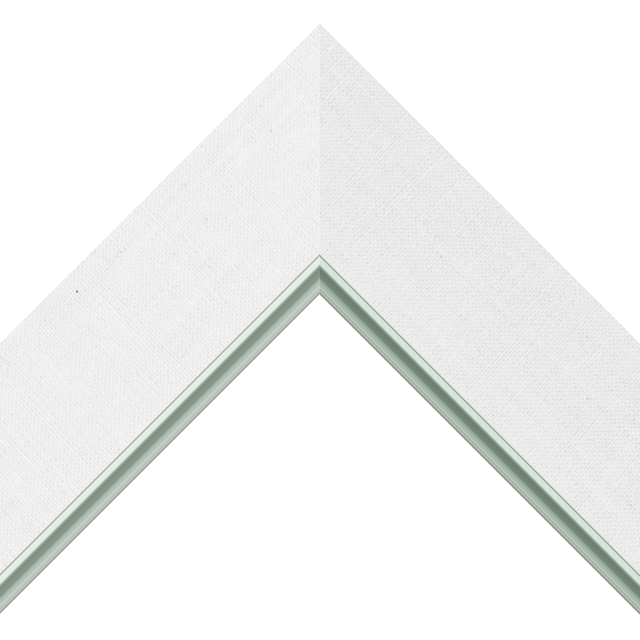 2-1/2&Prime; White Linen Flat<br />with Silver Lip Liner Picture Frame Moulding