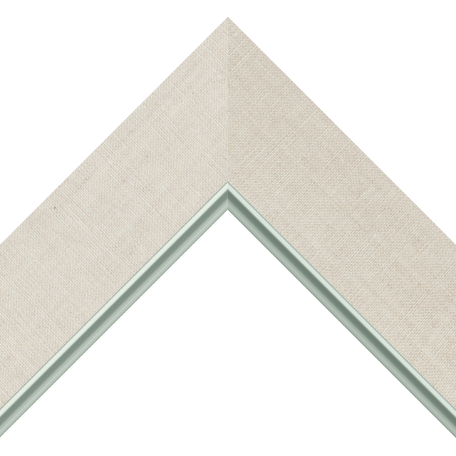 2-1/2&Prime; Natural Linen Flat<br />with Silver Lip Liner Picture Frame Moulding