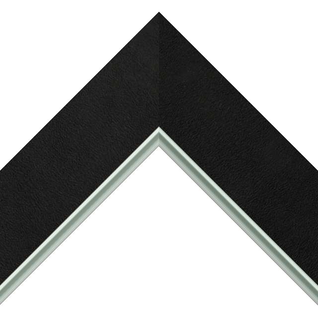 2-1/2&Prime; Black Suede Flat<br />with Silver Lip Liner Picture Frame Moulding