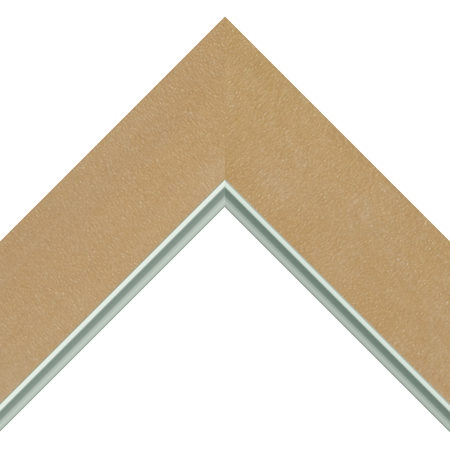 2-1/2&Prime; Thatch Suede Flat<br />with Silver Lip Liner Picture Frame Moulding