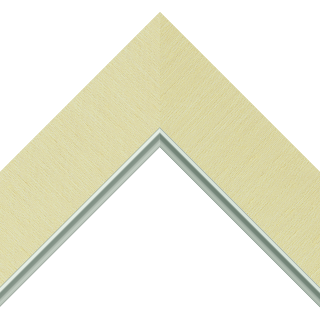 2-1/2&Prime; Pineapple Silk Flat<br />with Silver Lip Liner Picture Frame Moulding