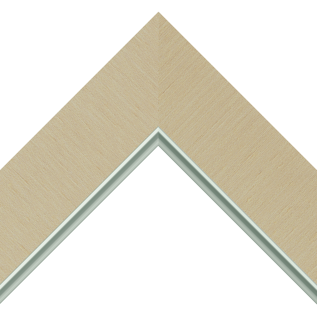2-1/2&Prime; Vanilla Silk Flat<br />with Silver Lip Liner Picture Frame Moulding