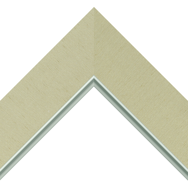 2-1/2&Prime; Ivory Silk Flat<br />with Silver Lip Liner Picture Frame Moulding