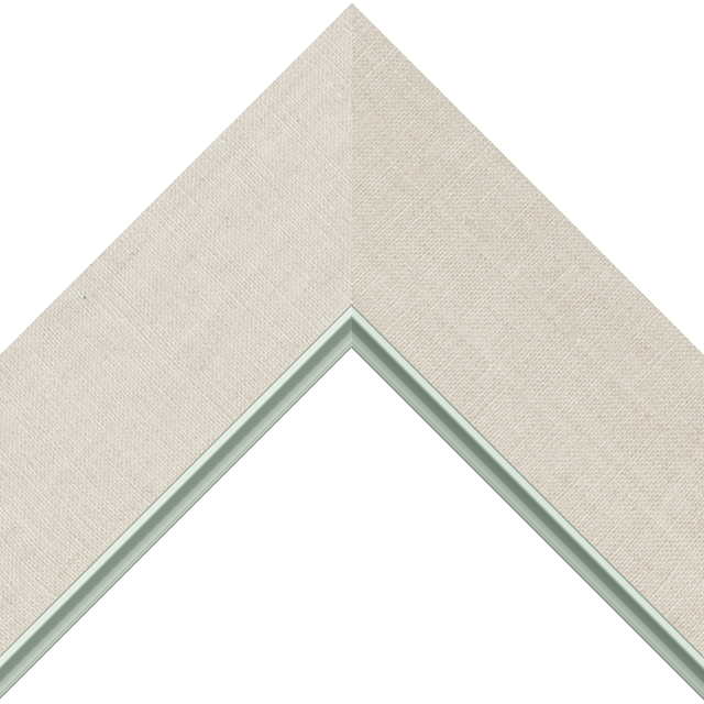 3&Prime; Natural Linen Flat<br />with Silver Lip Liner Picture Frame Moulding
