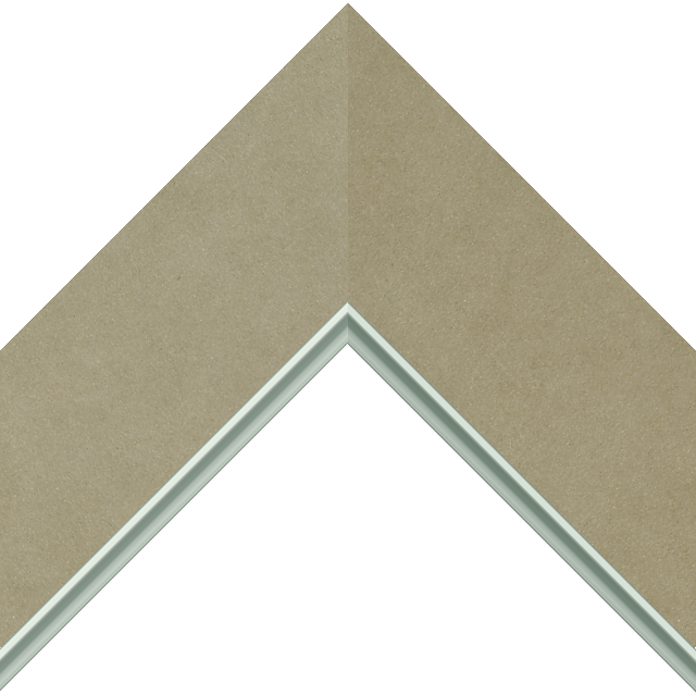 3&Prime; Ultra Taupe Suede Flat<br />with Silver Lip Liner Picture Frame Moulding