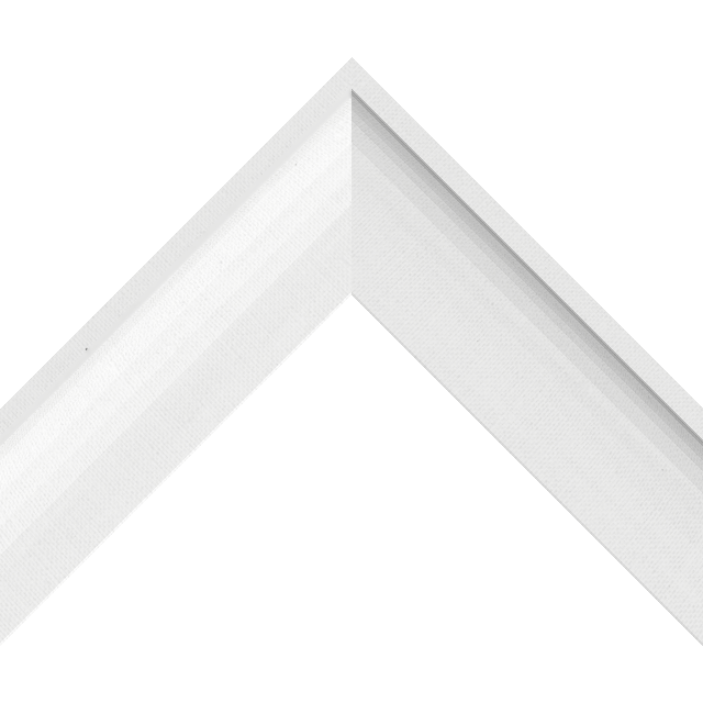 2-1/4″ White Linen Shallow Scoop Wrap