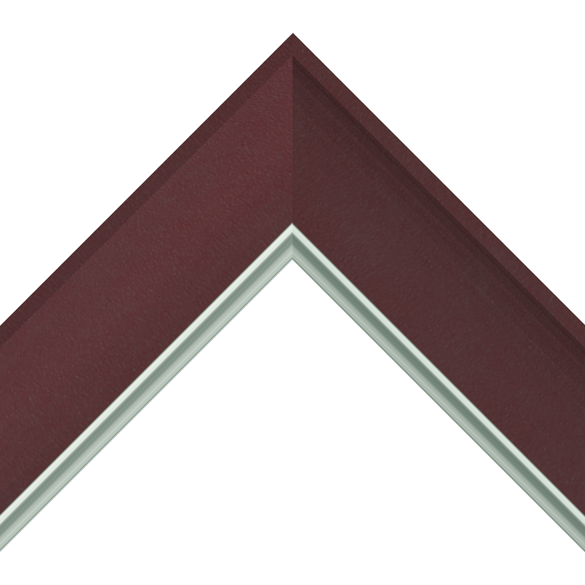 2-1/2&Prime; Claret Suede Scoop<br />with Silver Lip Liner Picture Frame Moulding